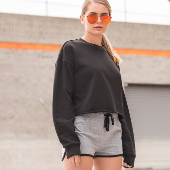 CROPPED SLOUNGE SWEAT