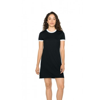 T-shirt dress Poly-Cotton Ringer Donna - American Apparel