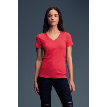 T-shirt Featherweight collo V Donna - Anvil