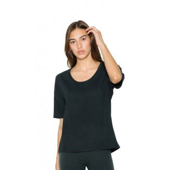 T-shirt Power Wash Fine Jersey Donna - American Apparel